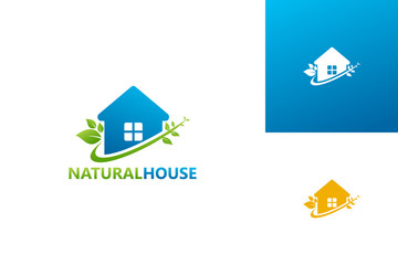 Natural House Logo Template Design Vector, Emblem, Design Concept, Creative Symbol, Icon