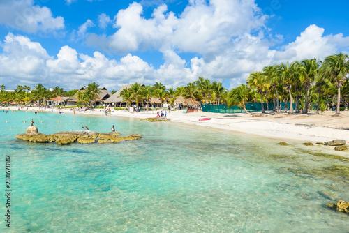 Riviera Maya Paradise Beach Aal At Cancun Quintana Roo Mexico Caribbean Coast