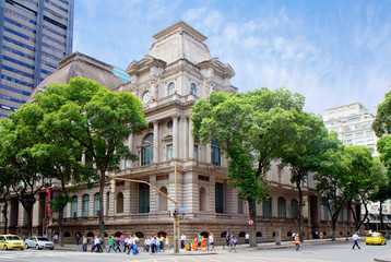 Rio de Janeiro, Brazil national Museum of fine arts. The Museum is located in a neoclassical building in the centre of Rio de Janeiro.