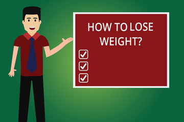 3403824de51 Word writing text How To Lose Weightquestion. Business concept for  Strategies to get fitter stop