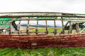 ribs of an abandoned boat