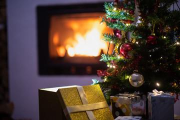Christmas holiday season scene