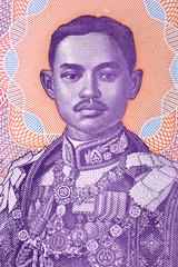 Prajadhipok Rama VII portrait from Thai money