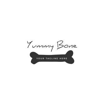 Vector hand drawn logo template for pets related business.