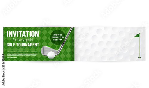 golf tournament invitation template stock image and royalty free