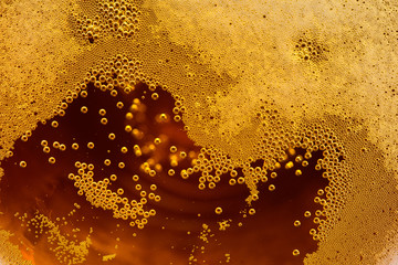 Tuinposter Bier / Cider Craft Beer bubbles background texture