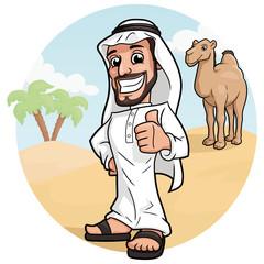 Arabic man in a desert