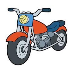 Fotobehang Motorfiets Illustration of a motorcycle