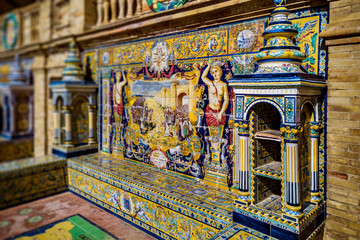 Decorative ceramics of Plaza de Espana