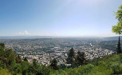Tbilisi, Georgia: City panorama from the mountain Mtatsminda park
