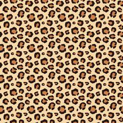 シームレスな茶色のヒョウ柄パターン