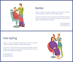 Barber Shop and Hair Styling Posters Hairdresser