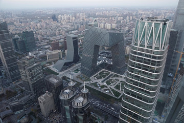 A general view of Beijing's central business area