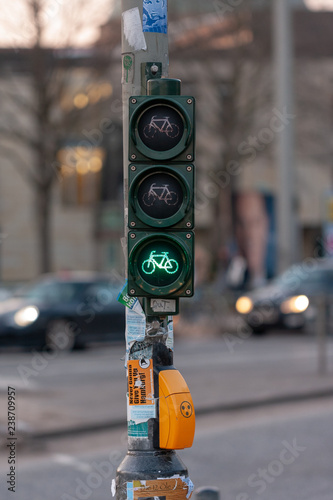 Fahrradampel Rot Gelb Stock Photo And Royalty Free Images On