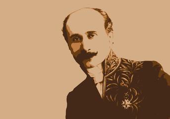 Portrait d'Edmond Rostand, célèbre écrivain français du 19ème siècle, créateur de Cyrano de Bergerac