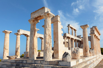 temple of Aphaia on Aegina island