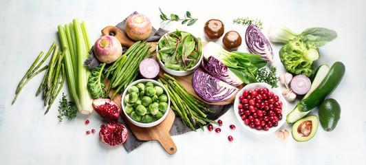 Papiers peints Legume Seasonal vegetables for healthy cooking