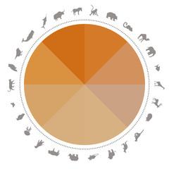 Tiere Infografik