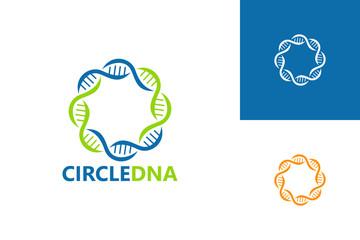 Circle DNA Logo Template Design Vector, Emblem, Design Concept, Creative Symbol, Icon