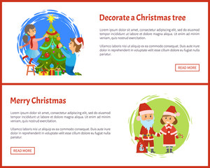 Decorated Christmas Tree, Merry Christmas Web Site