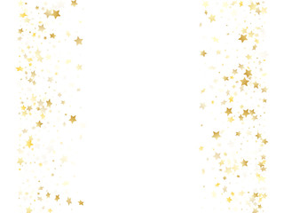 Magic gold sparkle texture vector star background.