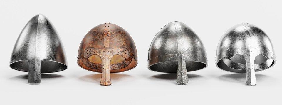 Realistic 3d Render of Viking Helmets