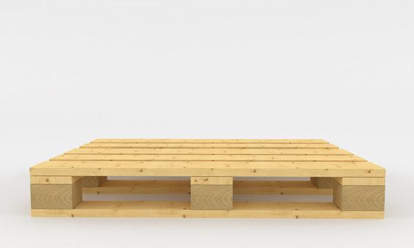 wooden pallets. 3d render