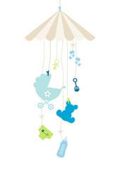 Mobilé Hanging Baby Symbols Boy