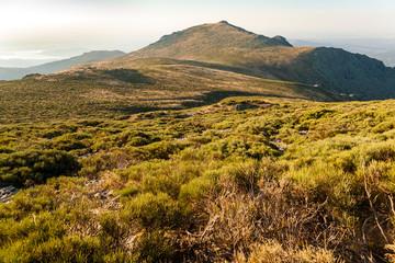 Pico de la Maliciosa desde el collado del Pioral. Sierra de Guadarrama. Madrid. . España. Europa.