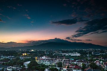 Sunset over Chiang Mai city