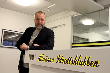 Bjorn Wesstroem, sporting director of Swedish champions AIK poses for a picture at the club's offices in Stockholm