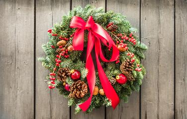old christmas wreath