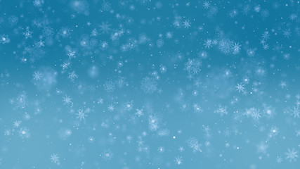 festive Christmas winter celebration background ideas concept with snow falling particle effect