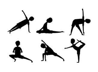 set man practice yoga exercise relaxation