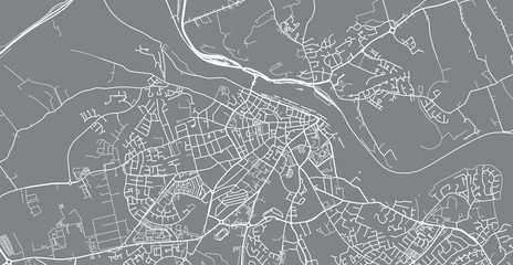 Urban vector city map of Waterford, Ireland