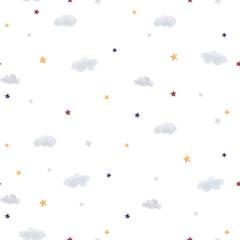 Fototapete - Watercolor sky pattern