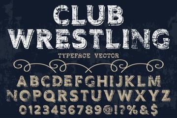Vector illustration,font script typeface vector 3d font