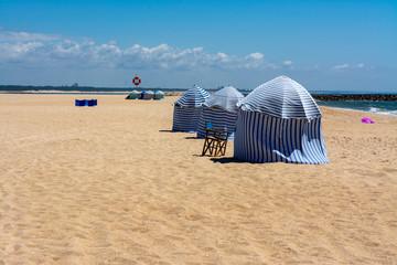 Zelte am Strand von Figueira da Foz