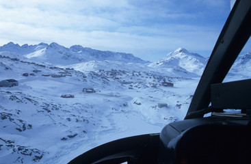 East-Greenland. View from the Helicopter