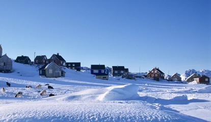 East-Greenland. A small settlement