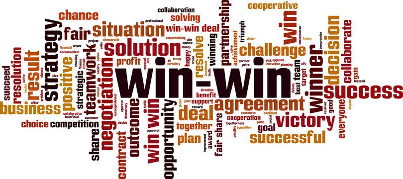 Win-win word cloud