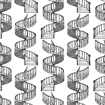 Vector background from  spiral staircases