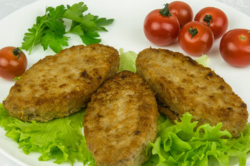 The image of fry meat