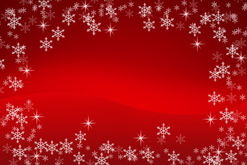 Colorful christmas background with snowflakes and stars