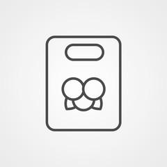 Christmas bag vector icon sign symbol