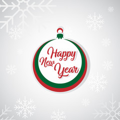 Christmas and New Year greeting card. Vector illustration.