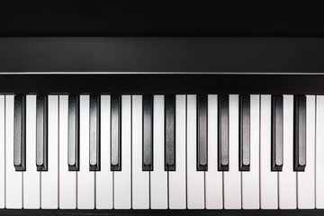 Piano keys. Musical instrument.