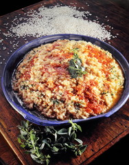 tomatoes and cheese risotto