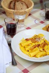 Carbonara in Rome at restaurant