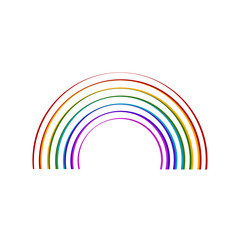 Sketch of a rainbow. Vector illustration design